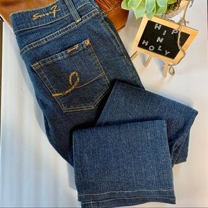 SEVEN7 BOOT STRETCH BLUE JEANS SIZE 27